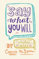 Cover of the book Say what you will