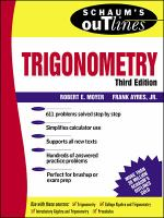 Schaum's outline of theory and problems of trigonometry [electronic resource] : with calculator-based solutions