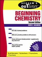 Schaum's outline of theory and problems of beginning chemistry [electronic resource]