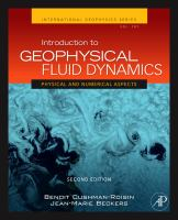 Introduction to geophysical fluid dynamics [electronic resource] : physical and numerical aspects.