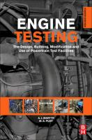 Engine testing [electronic resource] : the design, building, modification anduse of powertrain test facilities
