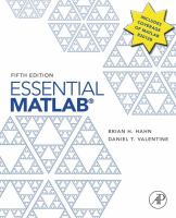Essential MATLAB for engineers and scientists [electronic resource]