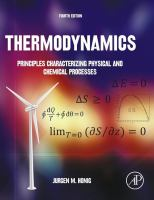 Thermodynamics : principles characterizing physical and chemical processes