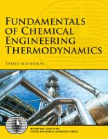 Fundamentals of chemical engineering thermodynamics [electronic resource] : with applications to chemical processes