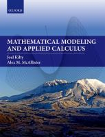 Mathematical modeling and applied calculus /