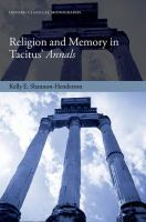 Religion and memory in Tacitus' Annals /