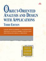 Object-oriented analysis and design with applications [electronic resource]