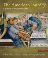 The American journey : a history of the United States cover image