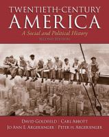 Twentieth-century America : a social and political history cover image