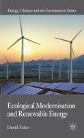 Ecological modernisation and renewable energy [electronic resource]