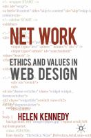 Net work [electronic resource] : ethics and values in web design
