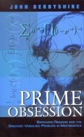Book cover for Prime Obesession by John Derbyshire