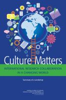 Culture matters : international research collaboration in a changing world