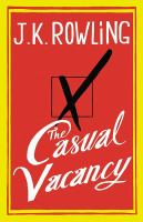 Book cover for The Casual Vacancy by J. K. Rowling