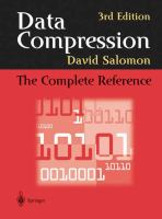 Data compression [electronic resource] : the complete reference