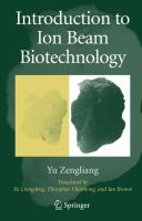 Introduction to Ion beam biotechnology [electronic resource]