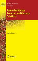 Controlled Markov processes and viscosity solutions [electronic resource]