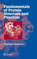 Fundamentals of protein structure and function [electronic resource]
