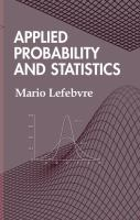 Applied probability and statistics [electronic resource]