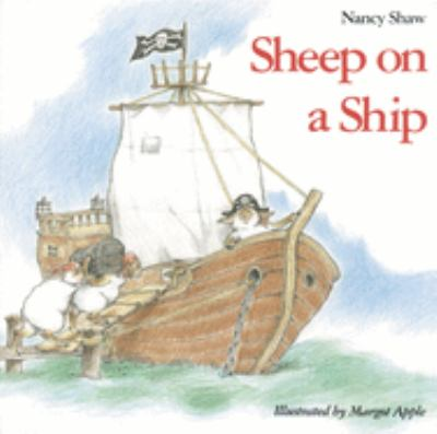 """Book Cover - Sheep on a Ship"""" title=""""View this item in the library catalogue"""