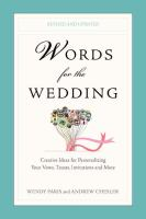 Words for the Wedding