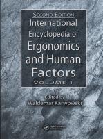International encyclopedia of ergonomics and human factors [electronic resource]