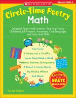 Circle-time Poetry