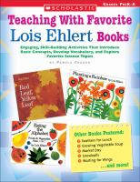 Teaching With Favorite Lois Ehlert Books