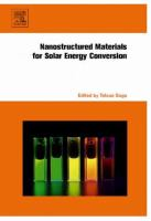 Nanostructured materials for solar energy conversion [electronic resource]