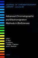 Advanced chromatographic and electromigration methods in biosciences [electronic resource]