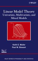 Linear model theory [electronic resource] : univariate, multivariate, and mixed models