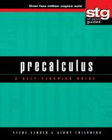 Precalculus [electronic resource] : a self-teaching guide