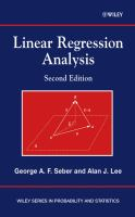 Linear regression analysis [electronic resource]