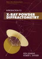 Introduction to X-ray powder diffractometry [electronic resource]