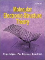 Molecular electronic-structure theory [electronic resource]