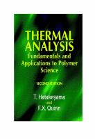 Thermal analysis [electronic resource] : fundamentals and applications to polymer science