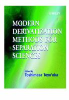Modern derivatization methods for separation sciences [electronic resource]