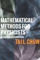 Mathematical methods for physicists [electronic resource] : a concise introduction