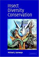 Insect diversity conservation / Michael J. Samways.