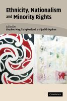 Ethnicity, nationalism and minority rights [electronic resource]