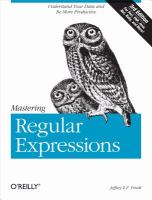 Mastering regular expressions [electronic resource]