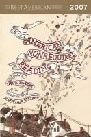The Best American Nonrequired Reading, 2007