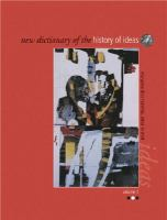 New Dictionary of the History of Ideas