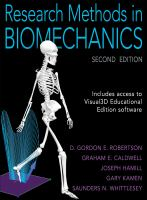 Research methods in biomechanics cover
