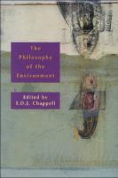 The philosophy of the environment [electronic resource]