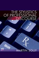 Stylistics of professional discourse