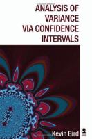 Analysis of variance via confidence intervals [electronic resource]