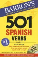 501 Spanish verbs : fully conjugated in all the tenses in a new easy-to-learn format, alphabetically arranged