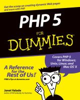 PHP 5 for dummies [electronic resource]