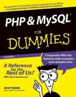 PHP and MySQL for dummies [electronic resource]